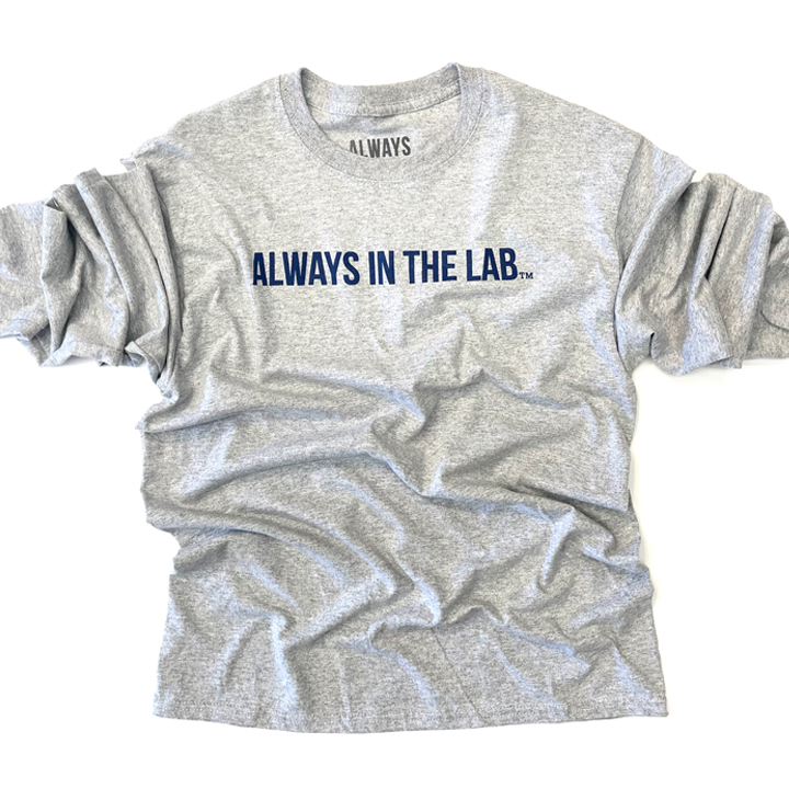 ALWAYS IN THE LAB GREY LONG SLEEVE