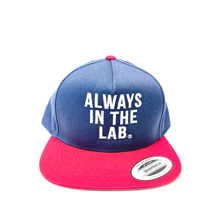 ALWAYS IN THE LAB NAVY/RED SNAP BACK