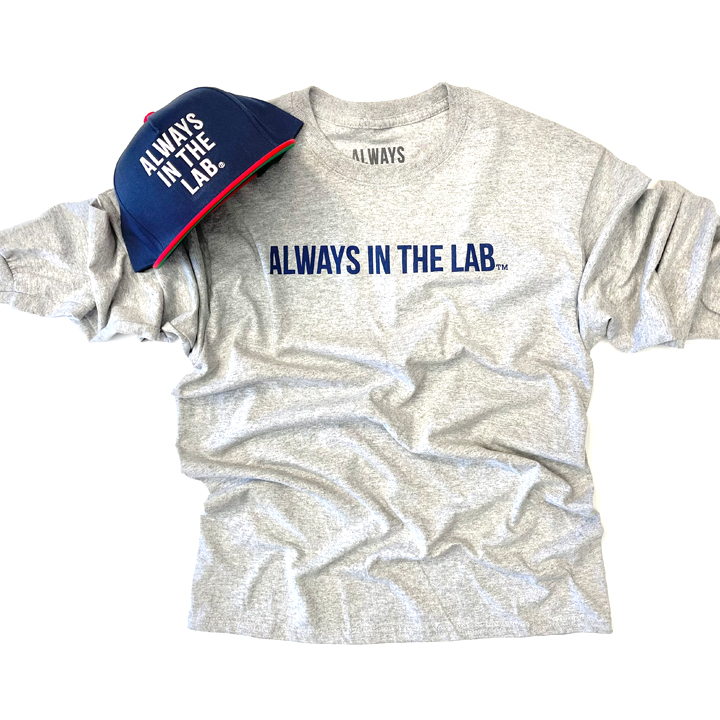 """ALWAYS IN THE LAB GREY LONG SLEEVE """"Bubble quietly""""!"""