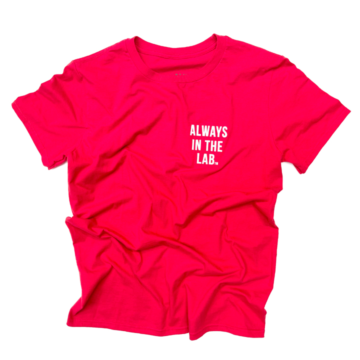ALWAYS IN THE LAB RED TEE