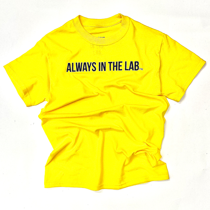 ALWAYS IN THE LAB YELLOW TEE