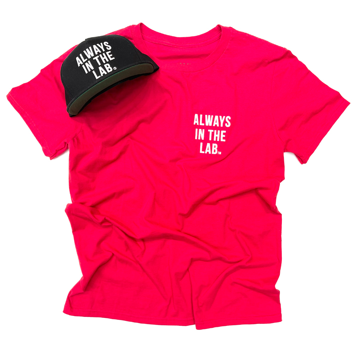 """ALWAYS IN THE LAB RED TEE """"The under dog"""""""