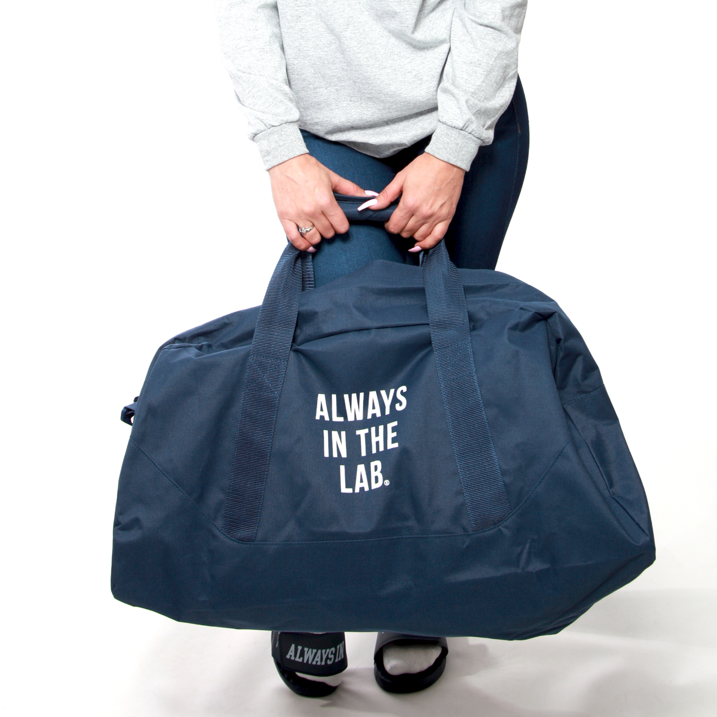 """ALWAYS IN THE LAB NAVY DUFFLE """"Rookie of the year"""""""